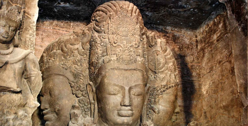 Trimurti-sculpture elephanta caves