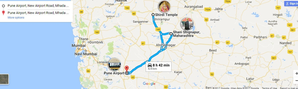 Pune Shirdi Shanishignapur Tour
